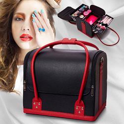 韩国大容量专业手提便携化妆包工具箱多层美甲纹绣跟半化妆箱