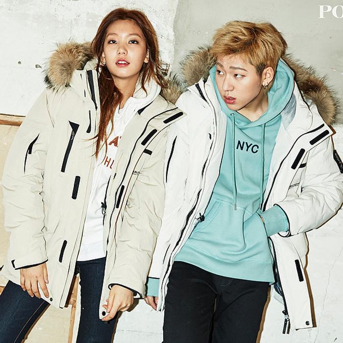 В обратных сезон модель POLHAM купить качественную продукцию из республики корея такой же, как у звезды движение вниз гусь одежда воротник кардиган пальто