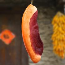 仿真腊肉模型假五花肉片食品道具猪肉片橱柜装饰农家乐挂件大肉块