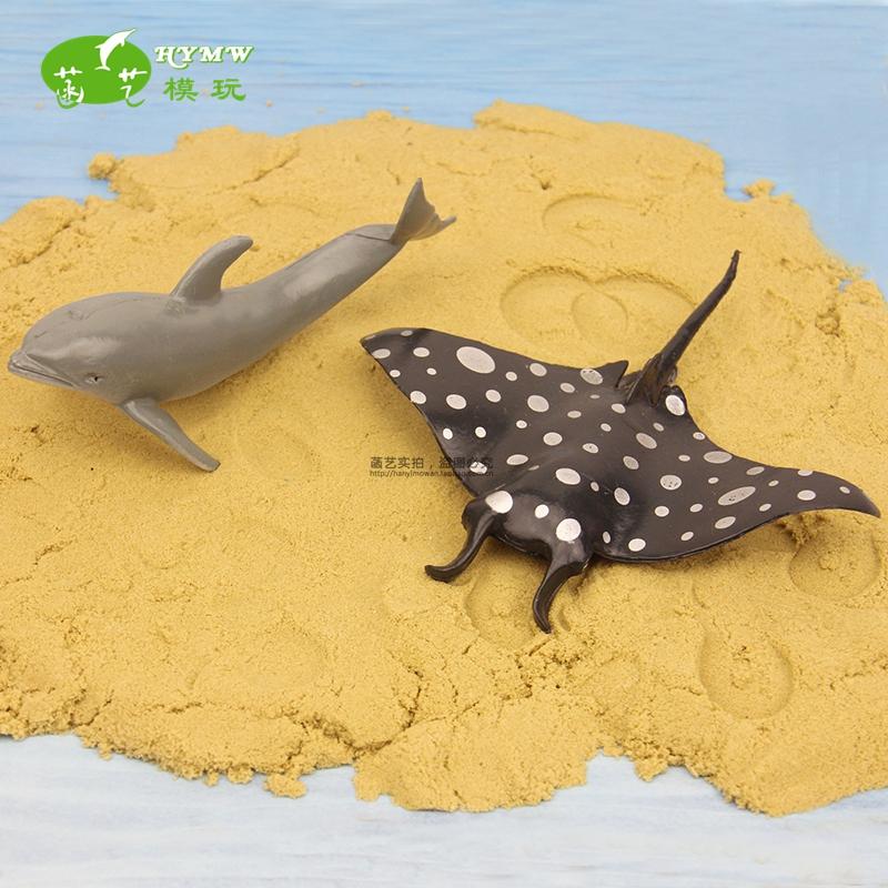 仿真蝠鲼鳐鱼刺鳐魔鬼鱼动物模型海豚儿童早教道具装饰海洋生物