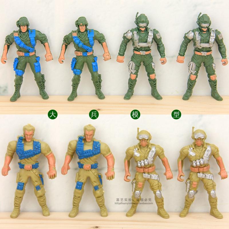 美国大兵模型兵人玩具套装二战军人士兵沙盘场景摆设儿童玩具道具