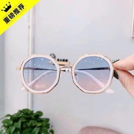 儿童眼镜太阳镜女童宝宝韩国潮酷儿童墨镜时尚防紫外线女眼睛六一图片