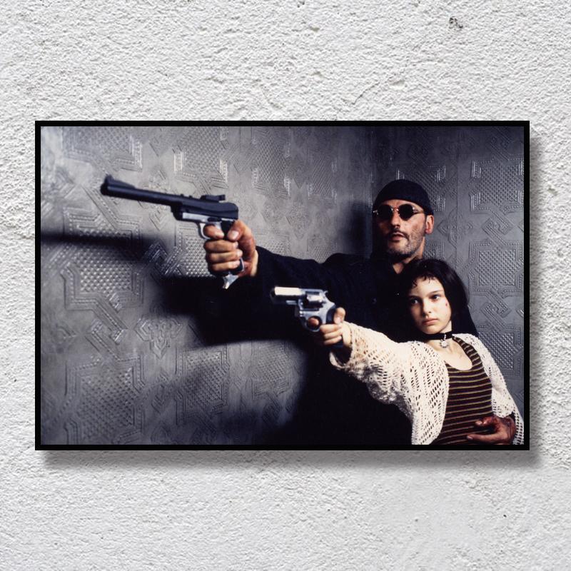 這個殺手不太冷裝飾畫 經典電影無框畫 復古創意宿舍酒吧裝飾品