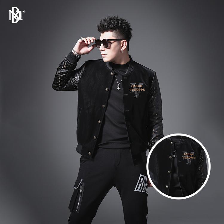 绘尚男装外套2021年春季新款欧货潮流时尚休闲男式夹克男士外套