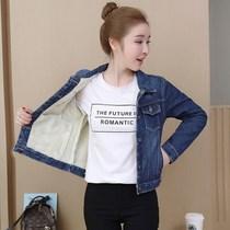 秋冬新款韩版大码牛仔外套女宽松长袖修身短外套显瘦夹克上衣