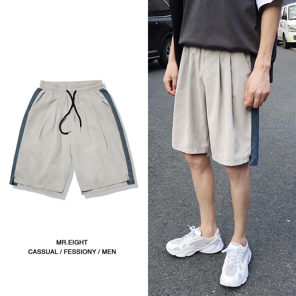 夏装新款 薄款 桃皮绒撞色休闲短裤 DK717-P25