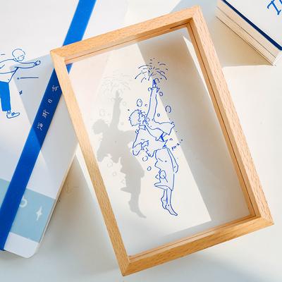 杂啊X阿又一天 原创个性手绘插画亚克力摆件温柔梦幻桌面装饰相框