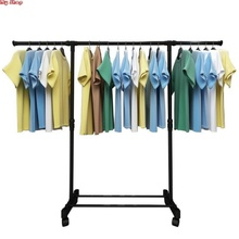 Land lifting clothes drying rack single dry clothes drying rack single pole lengthening multi-layer convenient, simple, antiskid and easy to hang