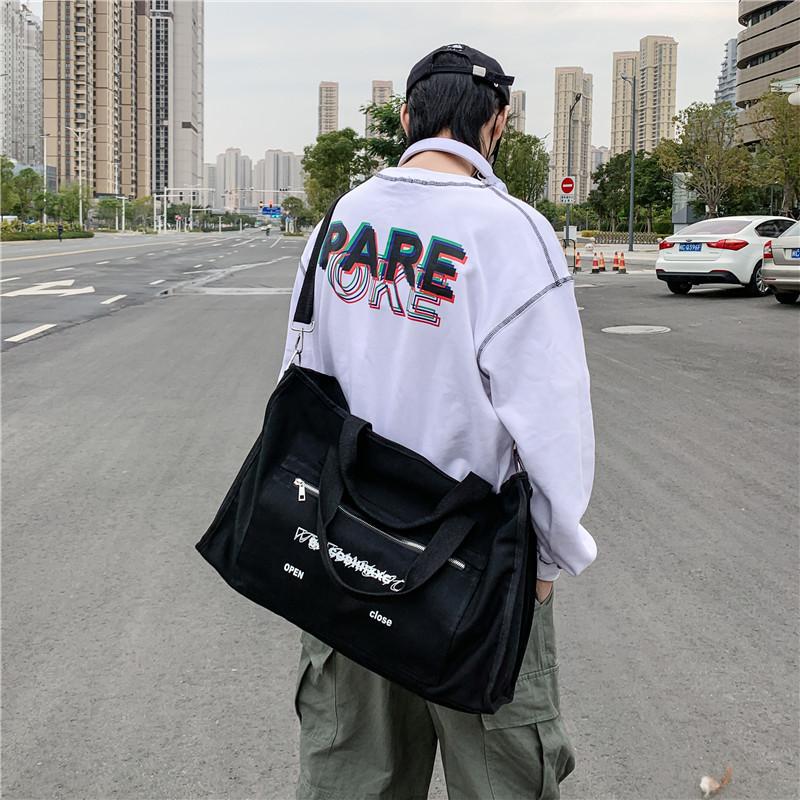 多機能手提げ大バッグ旅行長距離荷物パックキャンバスフィットネスバッグ
