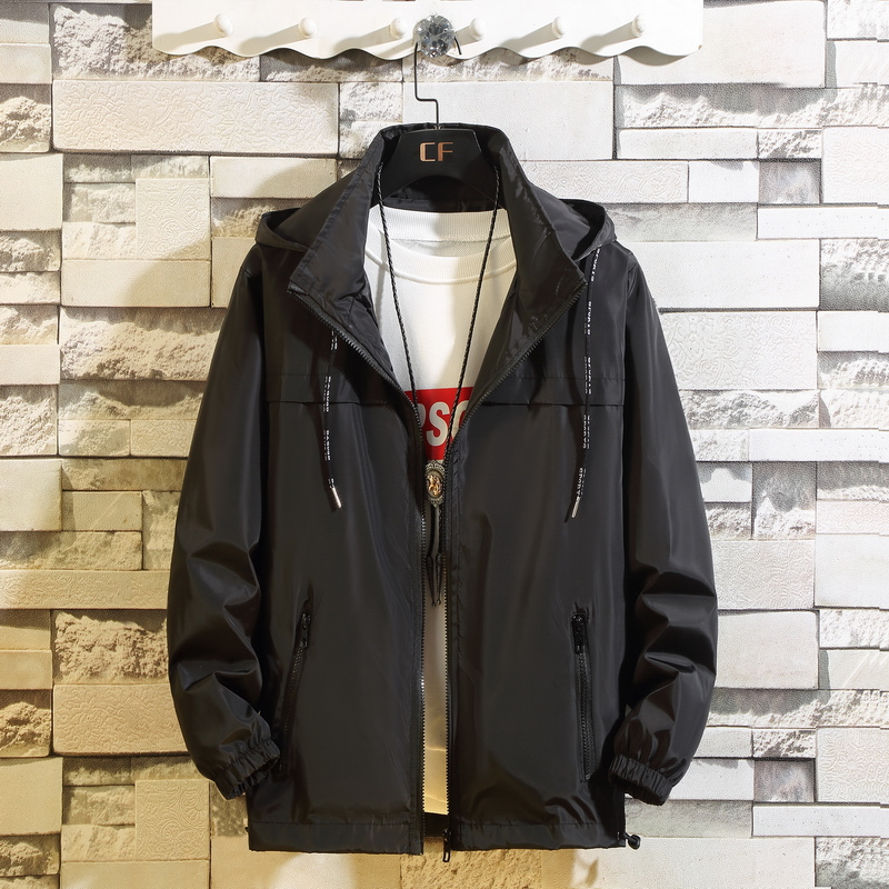 Autumn Japanese mens plus big size jacket, coat, class coat, fashionable and fat students, a large number of detachable caps jk602 p43