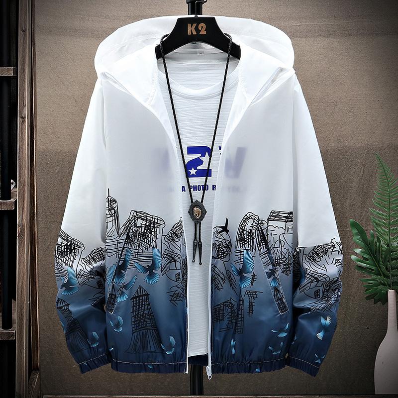 夏季防晒衣外套夹克情侣装皮肤衣超薄户外夏装宽松M-4XLF607-P25