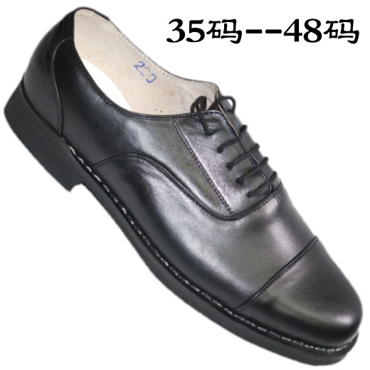 Three joint leather shoes extra large size 45464748 small size 353637 leather hand-made shoes mens business suit