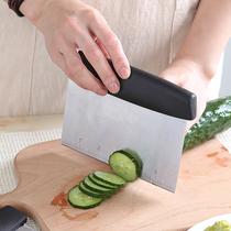 烘焙工具不锈钢加厚分面团刀多功能刮刀带刻度面粉长方形奶油刮板