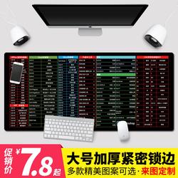 快捷键鼠标垫超大办公电脑桌垫学生写字桌面全套做图大全键盘垫女