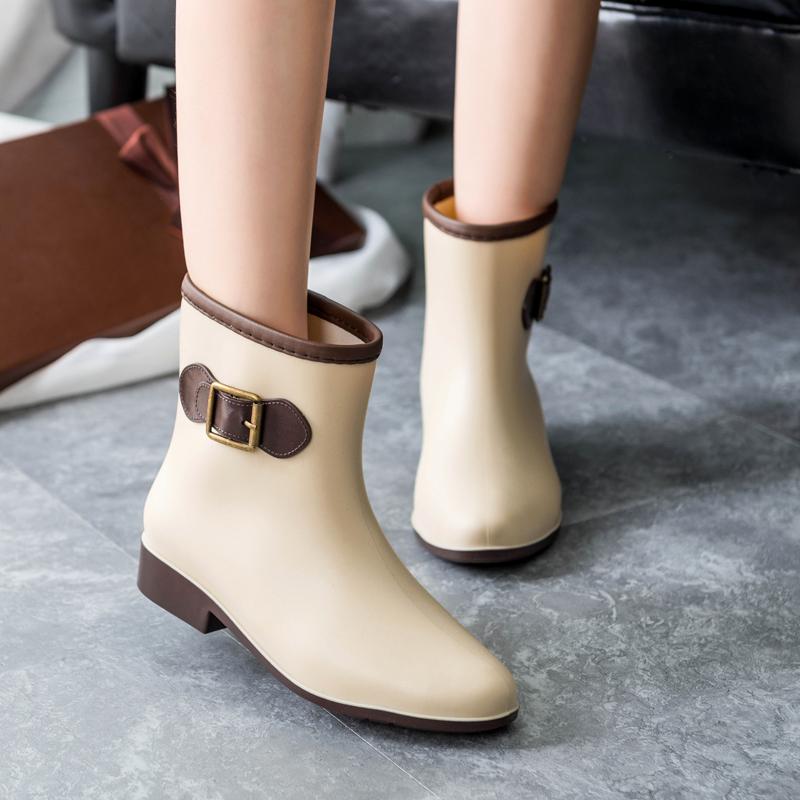 特价女款雨鞋女士加棉中筒时尚女式雨靴防滑水鞋短筒胶鞋水靴套鞋