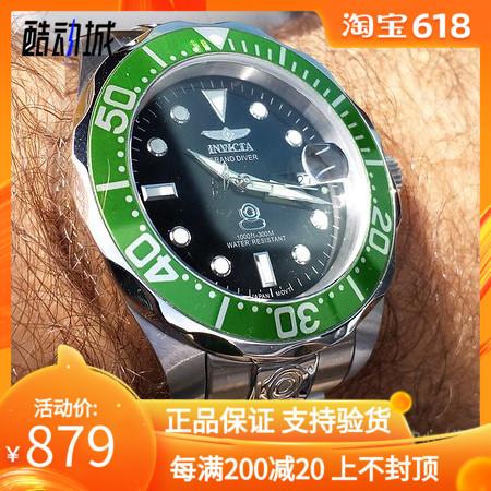 正品代购Invicta男表 一米劳手表潜水防水夜光全自动机械男表