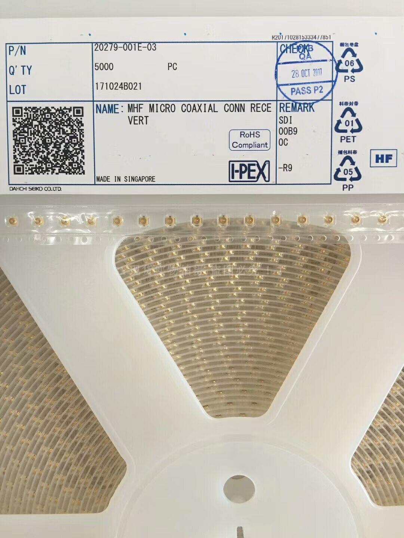 20279-001E-03 �N片射�l天�座子IPEX 板端�B接器 原�b�M口�F�