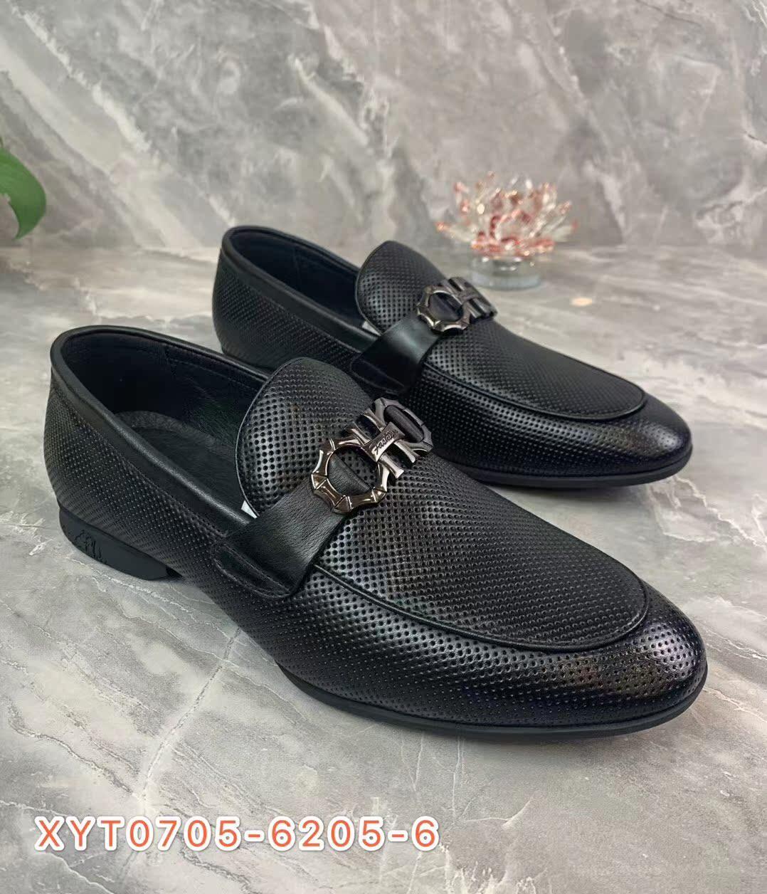 【西亚图】20年夏款一脚蹬真皮鞋休闲鞋商务正装皮鞋鞋潮流透气