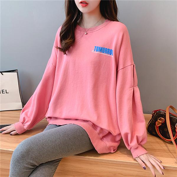 TS2925#印花棉质宽松长袖卫衣女网红同款