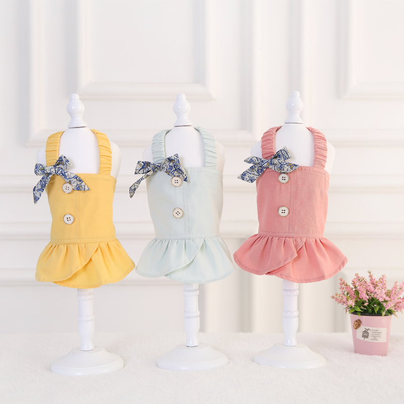 Keohani Princess Dress pet dress bow detachable and free to match with teddy dog dress