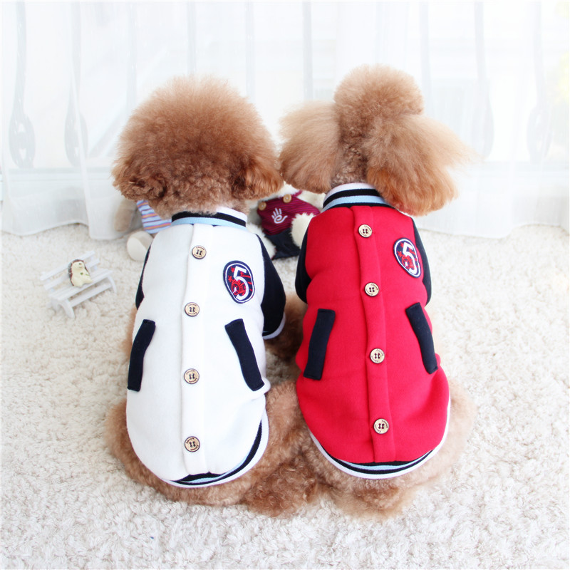 Coco Hani baseball uniform two legged clothes fashion casual pet clothes Teddy VIP dog clothes