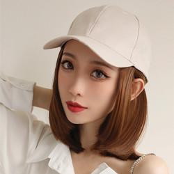 女短发直发帽子假发一体潮流时尚波波头网红甜美整顶可爱修饰减龄