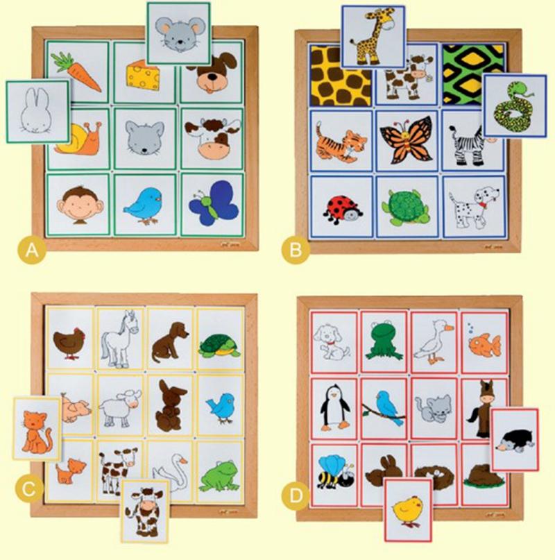 荷兰EDUCO 双层动物拼图系列-动物与之食物事物关联拼图 图形匹配