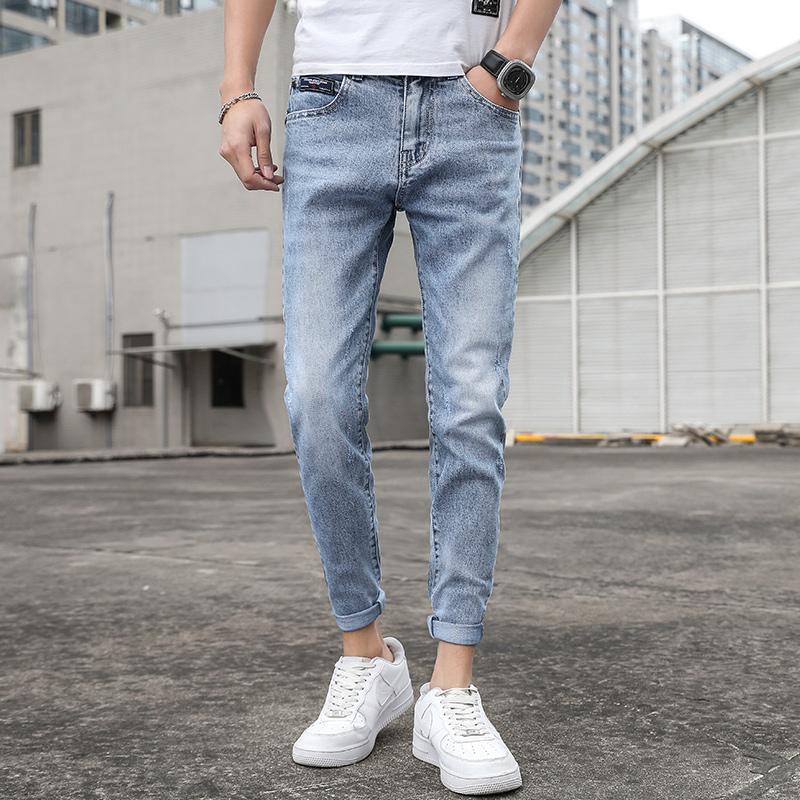 好品质 春夏韩版牛仔裤9分裤男士休闲修身弹力小脚裤K308-P50