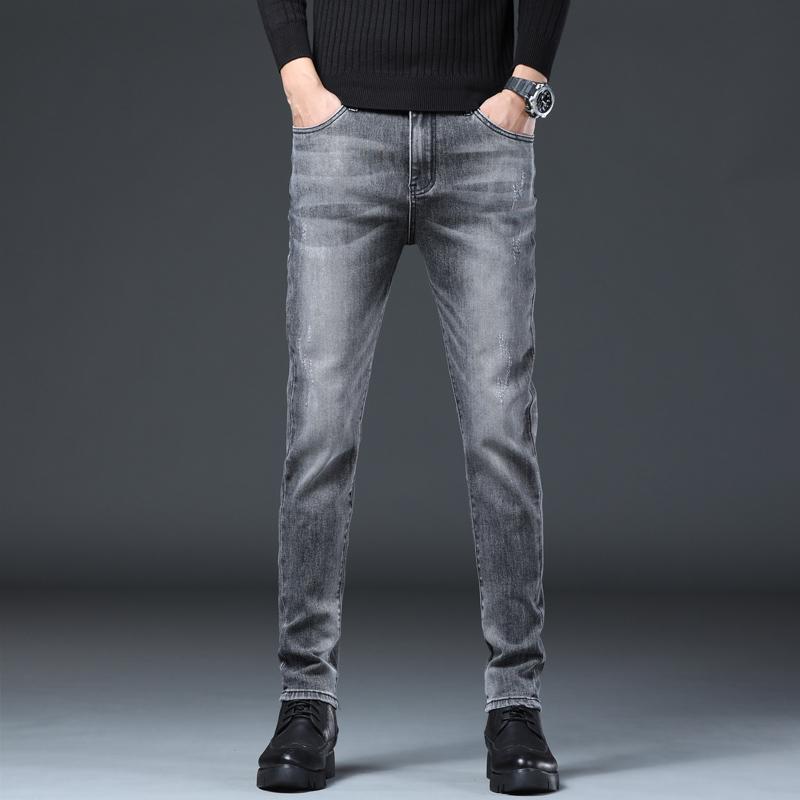 2021年秋冬季新款韩版弹力修身小脚青年休闲牛仔裤男裤K903-P55