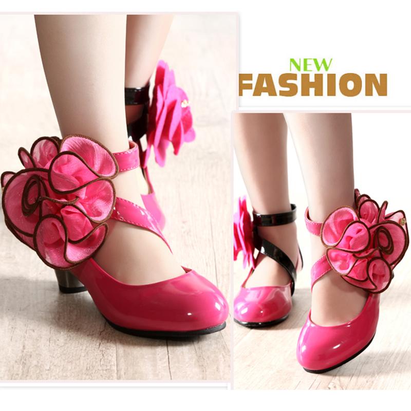 2016春秋季童鞋新款夏季公主单鞋舞蹈皮鞋女童高跟鞋宝宝小孩鞋子