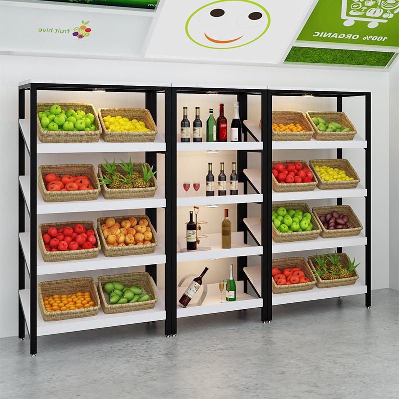 精品水果架展会多层中岛展示架超市货架红酒柜蛋糕架化妆品陈列架