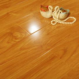高光亮面木地板强化复合木质家用环保耐磨防水地暖厂家直销12mm
