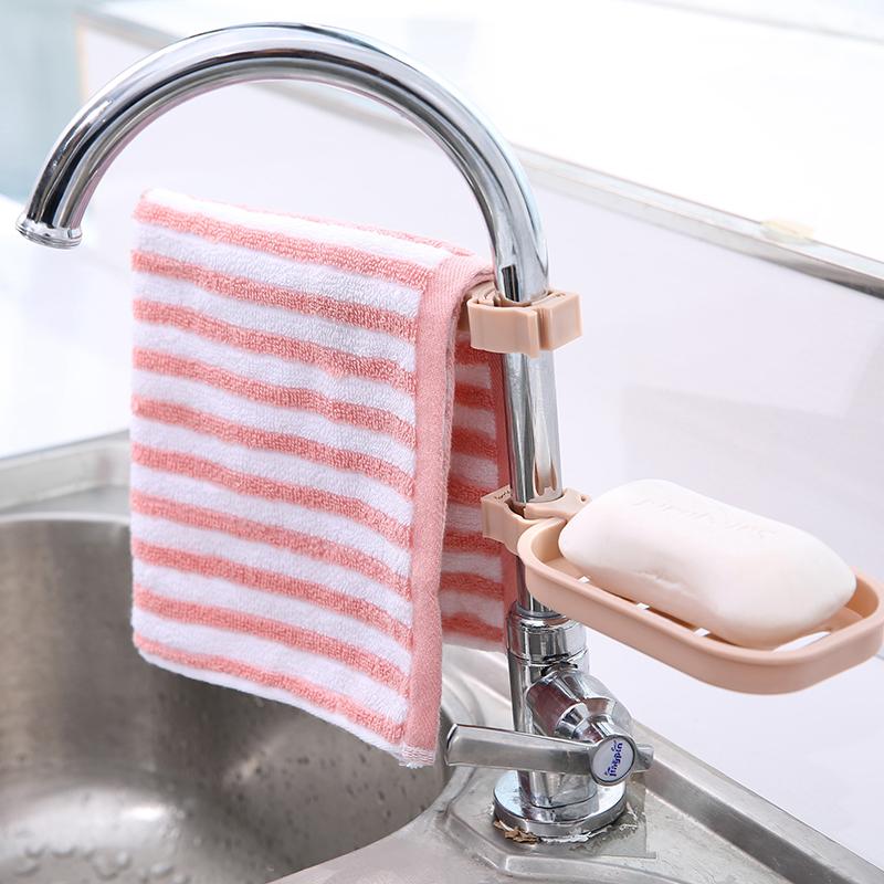 水龍頭瀝水置物架水池收納架 廚房用品水槽海綿抹布瀝水架