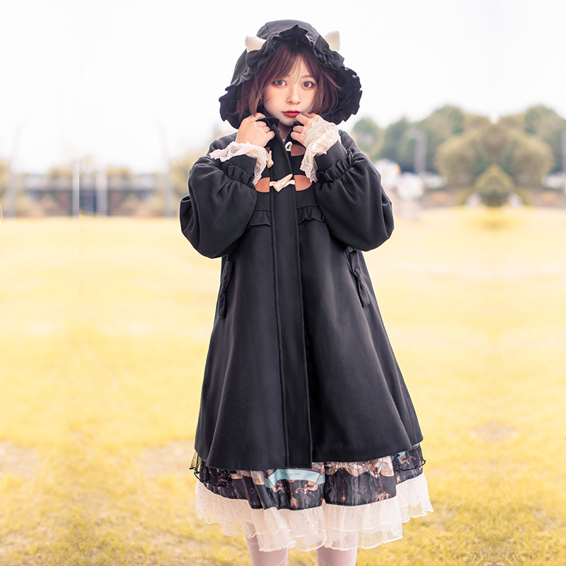 Lolita coat winter lovely Cape full set thickened coat Japanese winter dress Chinese style Lolita woman