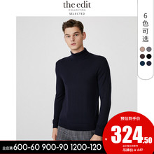 SELECTED Sladedong New Pure Wool High-collar Fashion Business Knitted Sweater for Men E419424535