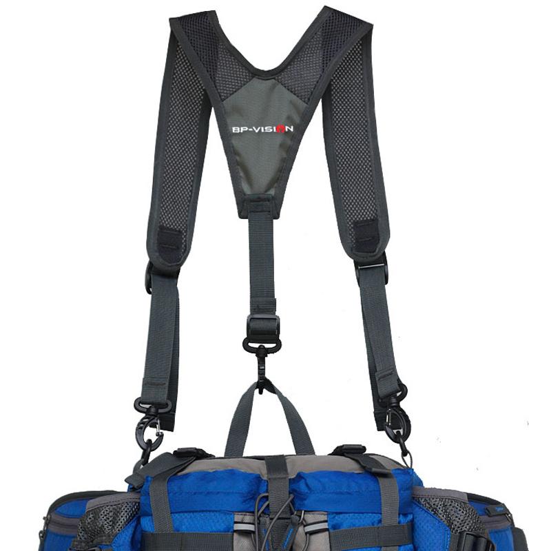火杰户外运动腰包双肩带 骑行双肩背带旅行肩带配件 登山腰包肩带