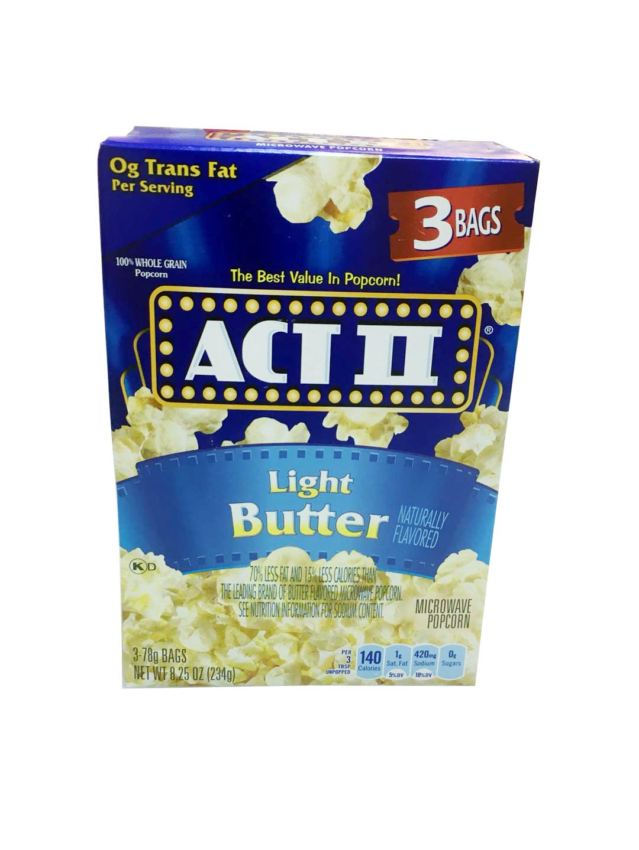 休闲食品艾可提清淡黄油味爆米花ACT LIGHT BUTTER POP CORN 234G