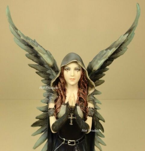 Bronze statue Anne Stokes dark angel of death Gothic Fairy Statue hand painted