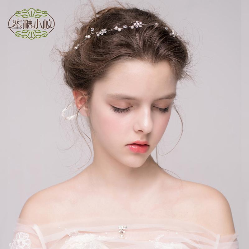 手工巴洛克花环头饰森系韩式新娘头饰伴娘头饰度假发带伴娘花环