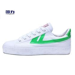 上海回力运动鞋低帮白绿帆布鞋男鞋学生休闲情侣鞋白搭女鞋复古风