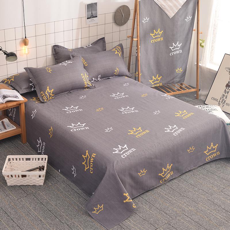 卡沃床单单件双人学生宿舍床单1.8米纯色床单被单单人床1.5/1.6米