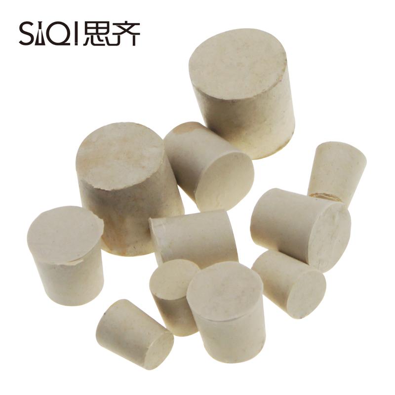 思齐 橡胶塞白胶塞1号2号3号4号5号6号多规格堵头烧瓶塞试管塞橡皮塞 支持打孔