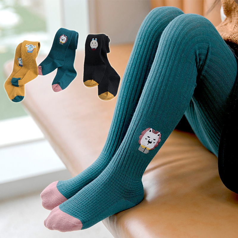 Girls underpants pure cotton spring and autumn thin Korean fashion girls one-piece pantyhose childrens socks