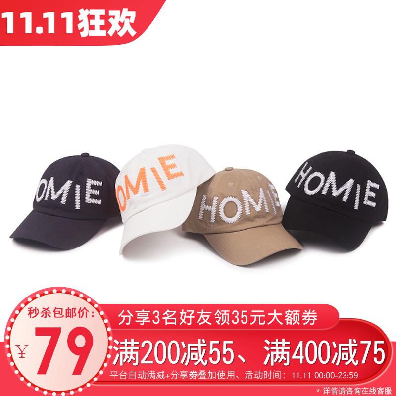 【双11秒杀】新帽城 WONDER HOMIE 不规则HOMIE logo 男女 棒球帽