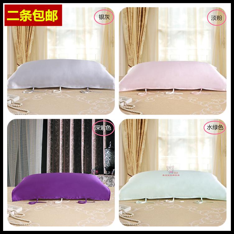 二条包邮睡眠是美容的好法宝100%真丝系带枕巾 六根绑带加固款
