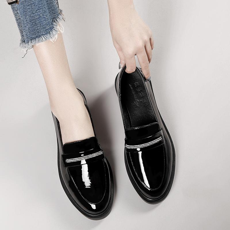 英伦风小皮鞋女韩版百搭夏天日系黑色女鞋2020新款工作单鞋女春季