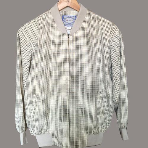 新款打折100%真丝男装 中老年精品夹克衫 桑蚕丝男士外套爸爸上衣