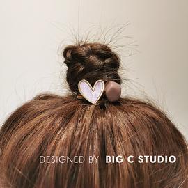 简约小香风爱心发绳手作打结百搭皮筋韩国ins扎头发圈网红头绳女图片