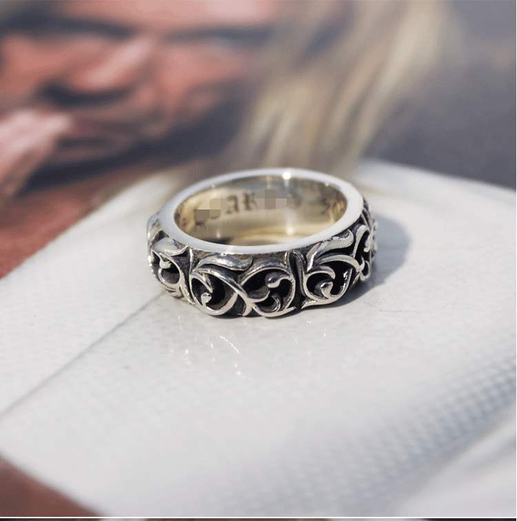 Genuine YEMA manor handmade 925 silver eternal rattan lovers ring vine ring