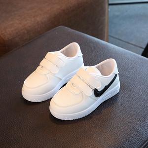 儿童鞋春秋款男童运动板鞋1小2孩子3白鞋子4岁小童5宝宝6学步鞋黑